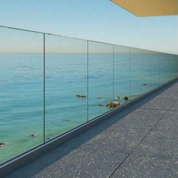 Ultra modern, frameless glass railings