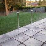 garden railings with glass by Southern Fabrication