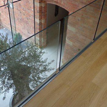 fitted, frameless glass railings for the modern look