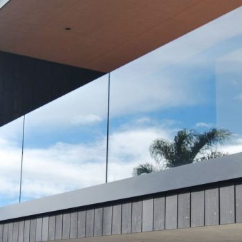 glass railing and paneling for balconies