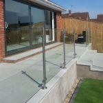 toughened glass railings