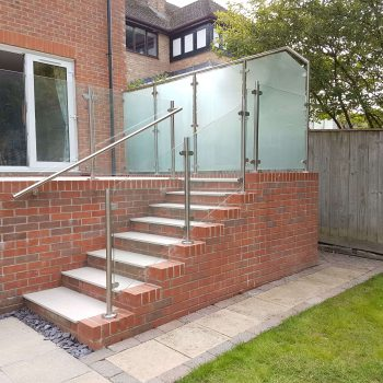 Southern Fabrication Glass railings with and without frames