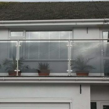 framed glass balcony railings by Southern Fabrication