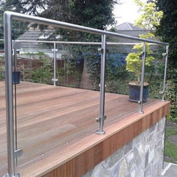 Raised glass railings for your home and garden