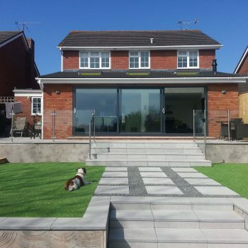 Frameless Glass Patio and Steps Railings