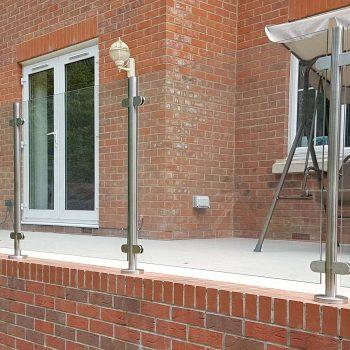 Installed Frameless Glass patio railings